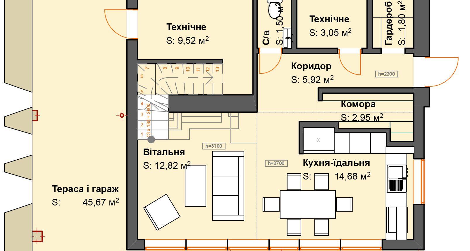 Typovy2 для генплану _ 1. 1-й этаж